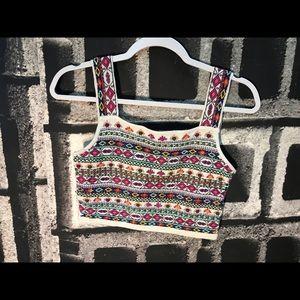 Beaded Zara crop top